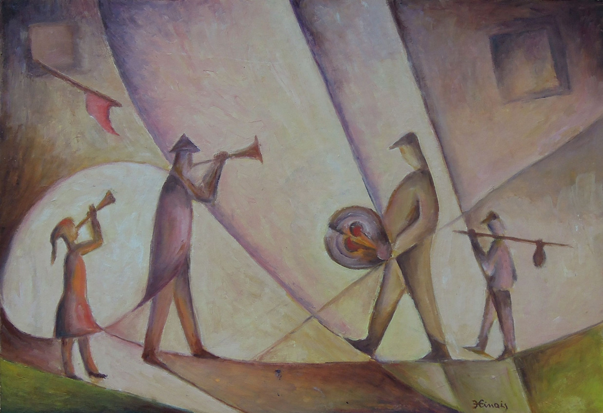 slavnost - Jan Hinais - kubismus
