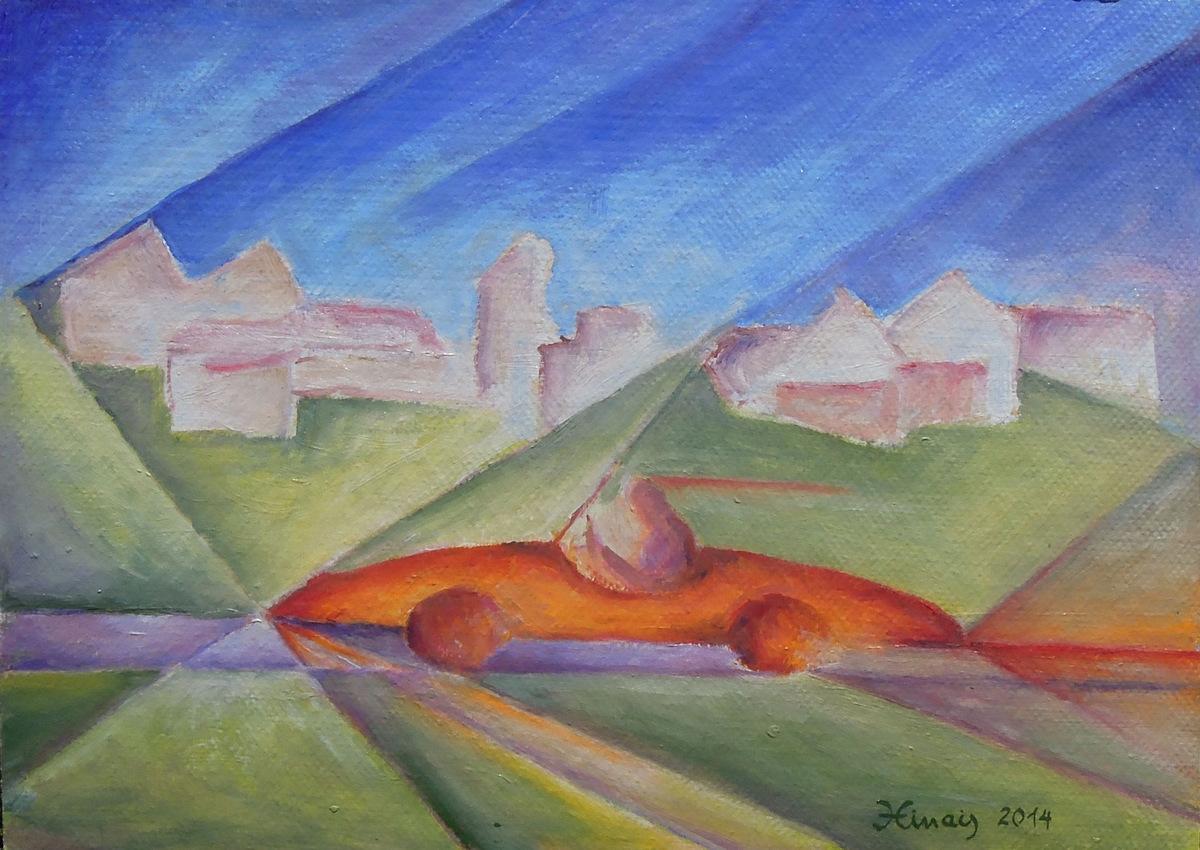 červený brouk - Jan Hinais - kubismus - kubistické obrazy