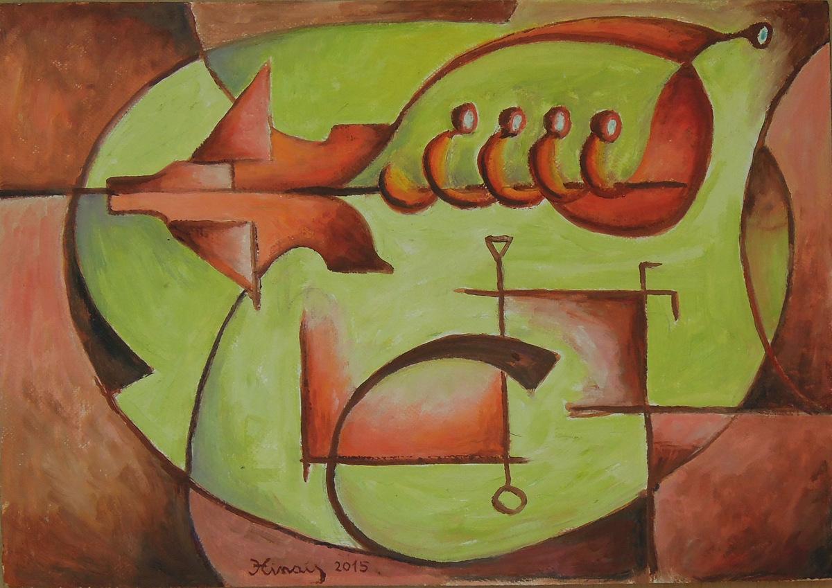 čtyři poslové - Jan Hinais - kubismus