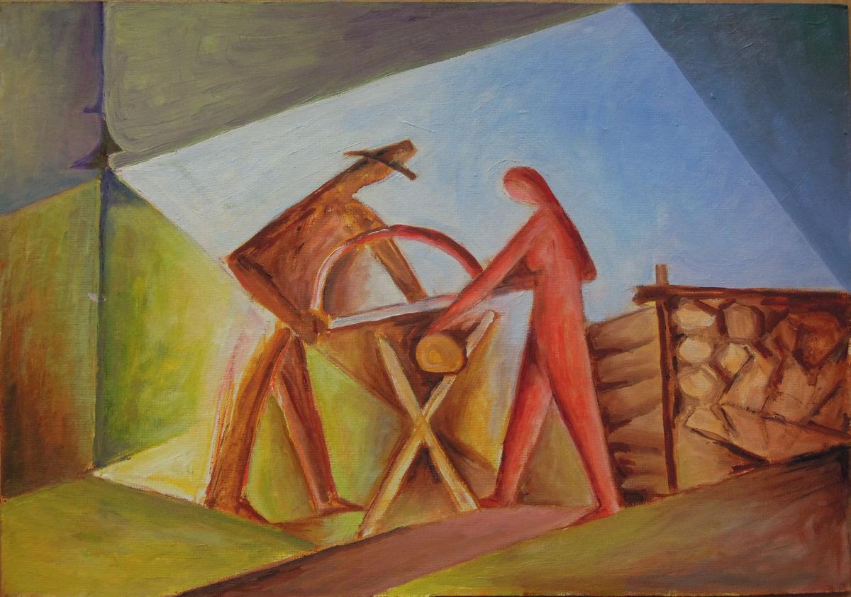 práce - Jan Hinais - kubismus