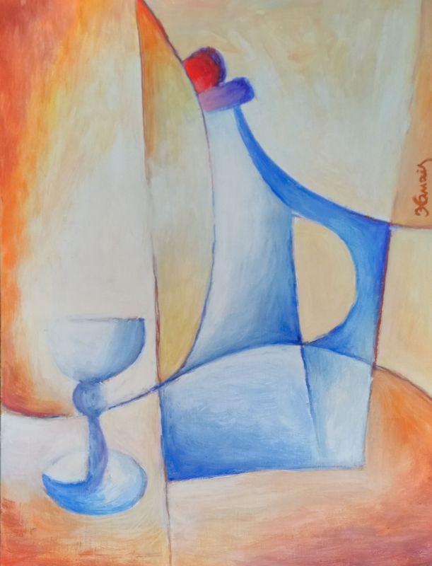 modrá - Jan Hinais - kubismus