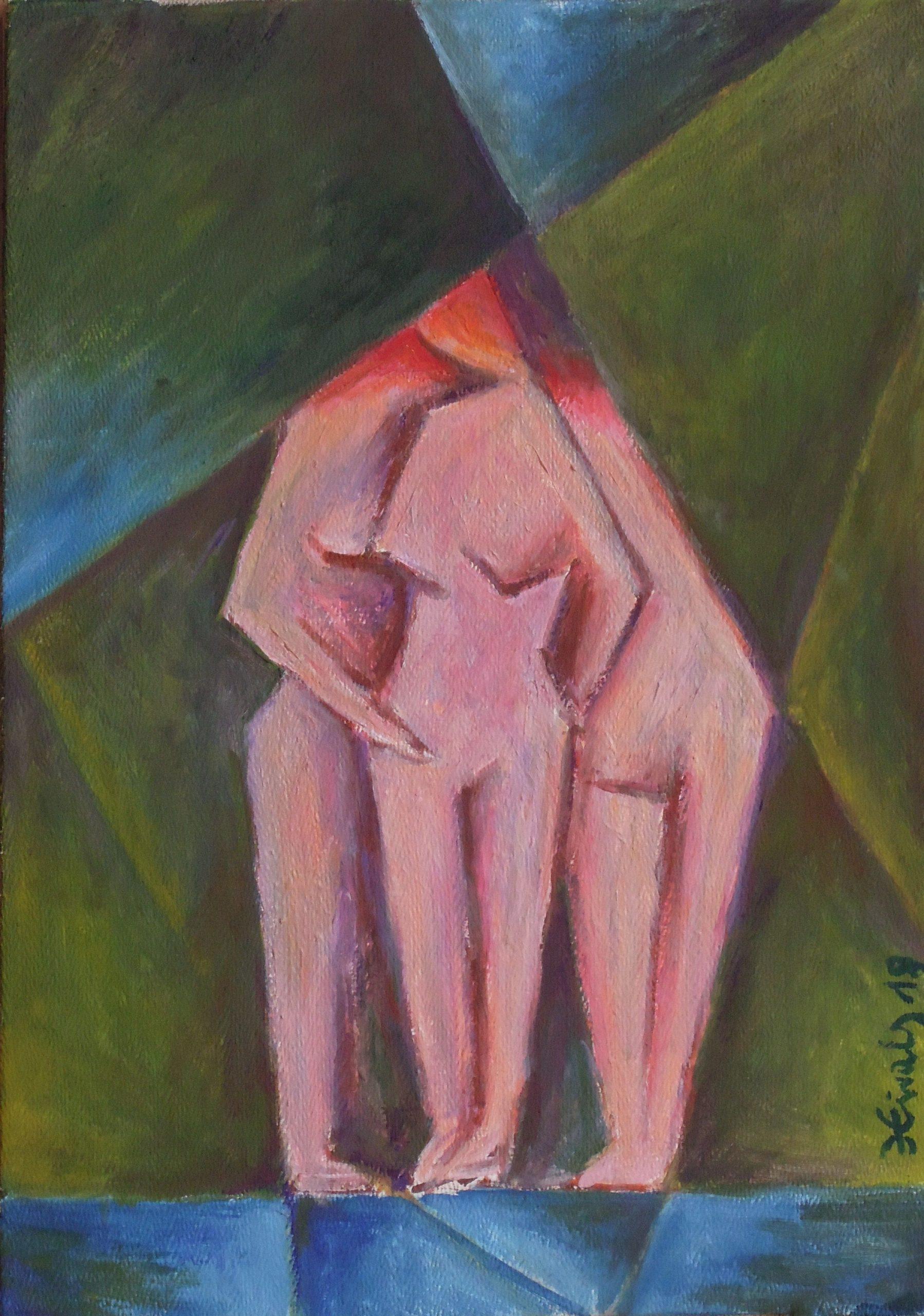 Koupání - Jan Hinais - kubismus