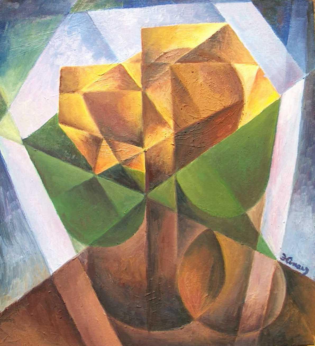 slunečnice - kubistické obrazy