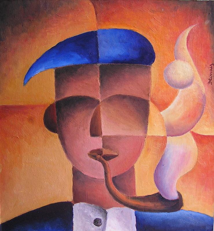 muž s fajfkou