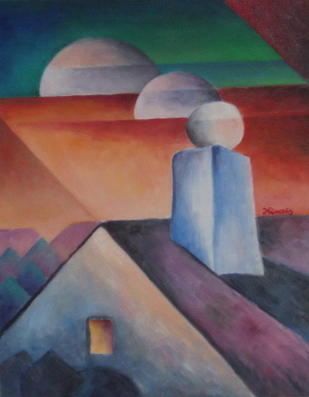 komín - Jan Hinais - kubismus