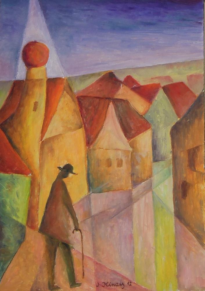 náměstí - Jan Hinais - kubismus