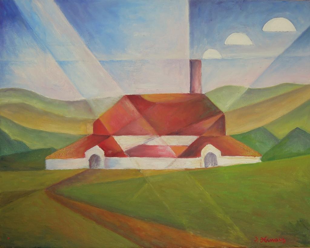 sklárna - Jan Hinais - kubismus