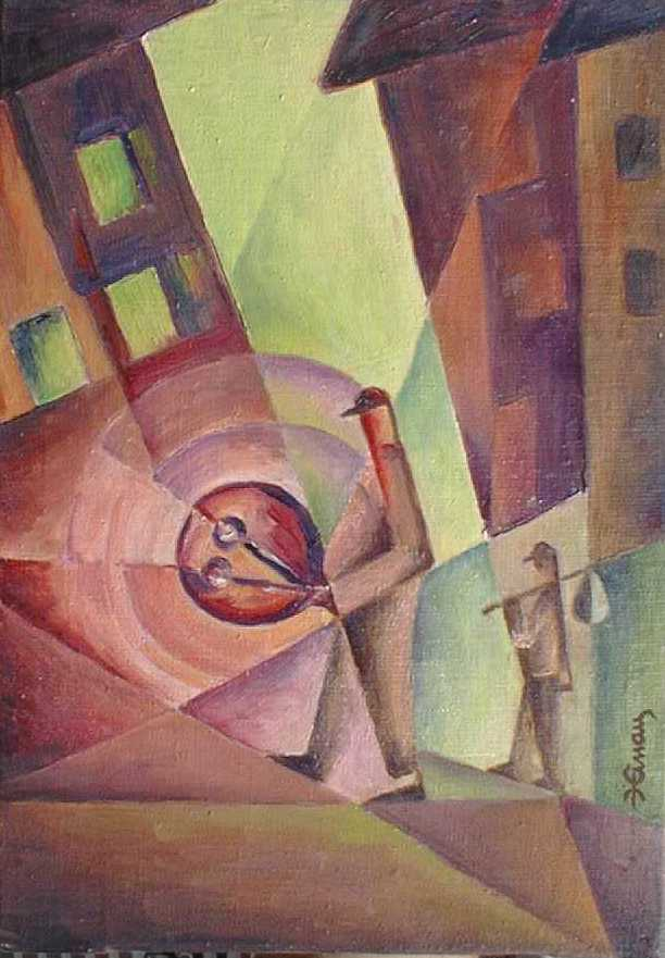 bubeníček - Jan Hinais - kubistické obrazy