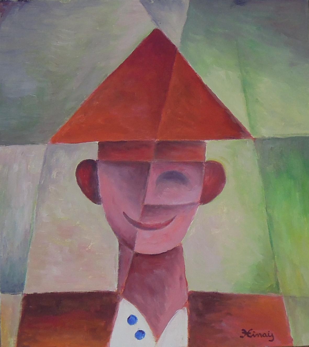 klaun - Jan Hinais - kubismus