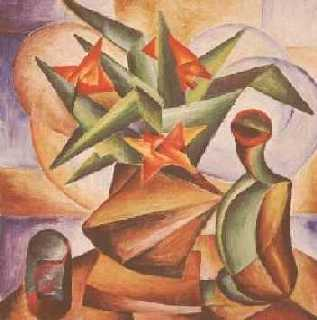 kytice s ostřími listy - kubistické obrazy