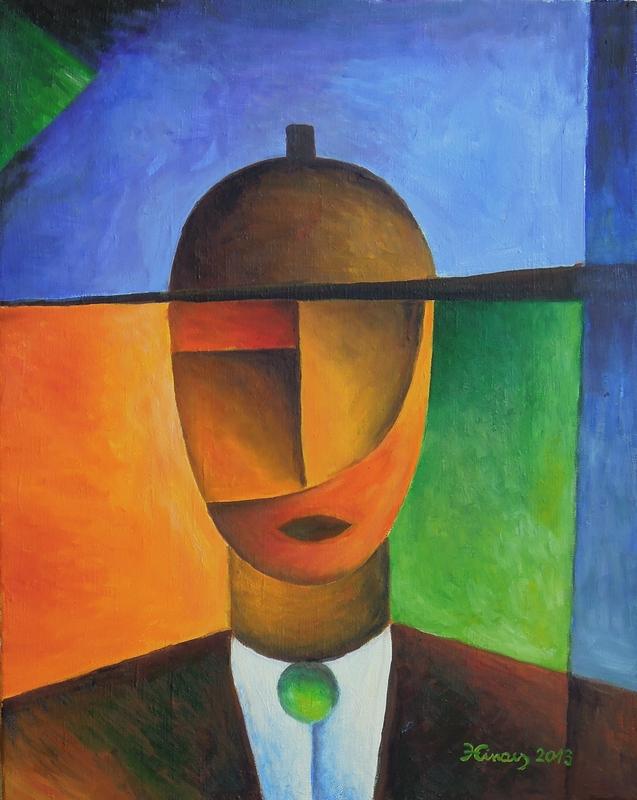 přítel - Jan Hinais - kubismus