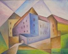 modrý dům - Jan Hinais - kubismus