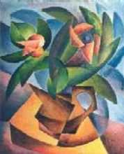 kytice ve větru - Jan Hinais - kubistické obrazy