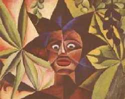 královna - Jan Hinais - kubistické obrazy