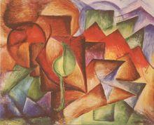 střechy - Jan Hinais - kubismus