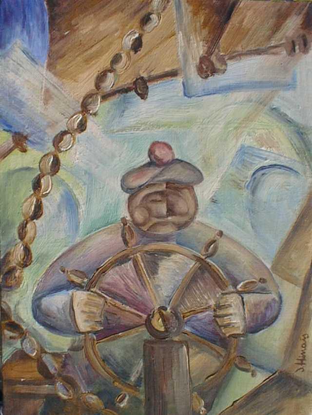 námořník - Jan Hinais - kubistické obrazy